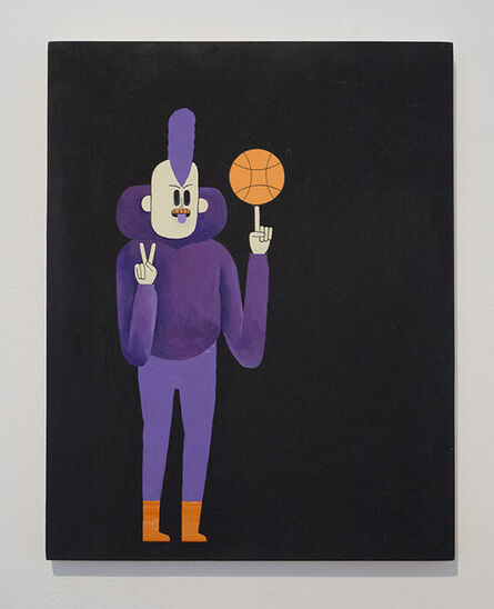John F. Malta, 'A Punk Spins A Basketball', 2015