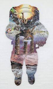 Dionisios Fragias, 'Stone on Smoke (Astronaut)', 2015