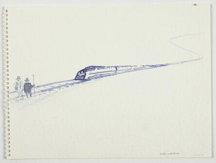 William Wegman, 'Problem on the Tracks', 1990