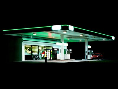 Ralf Peters, 'Petrol Stations (green, black)', 1998