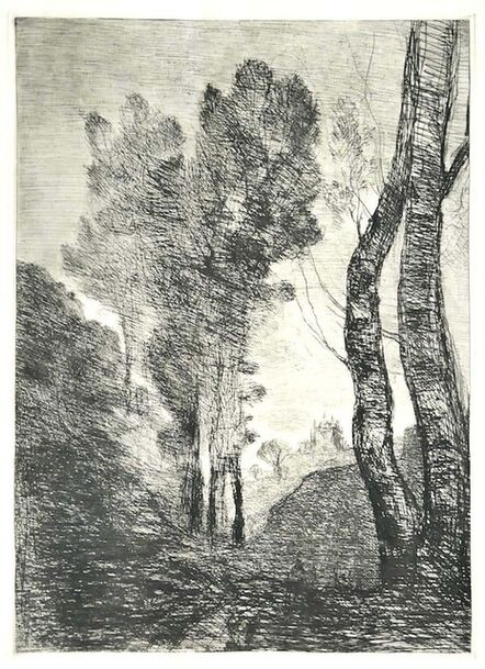 Jean-Baptiste-Camille Corot, 'Trees ', Late 19th Century