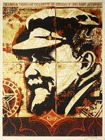 Shepard Fairey, ''Lenin Record'', 2005