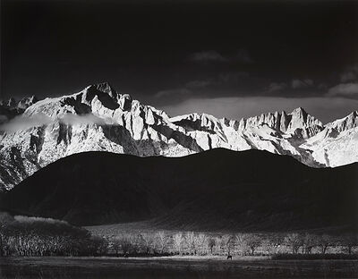 Ansel Adams, 'Sierra Nevada from Lone Pine', 1944