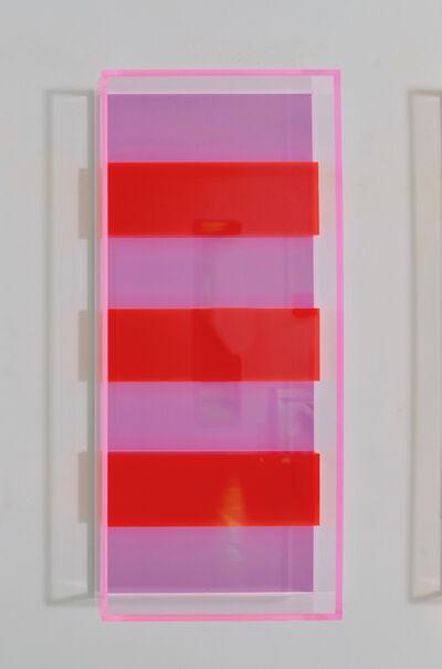 Regine Schumann, 'colormirror triple munich red', 2019