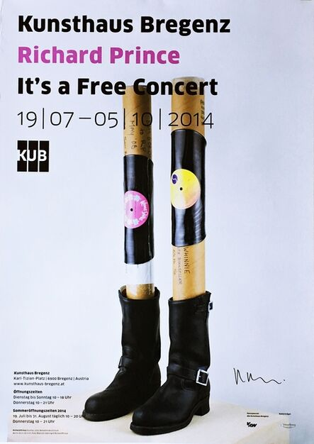 Richard Prince, 'It's a Free Concert (Hand Signed by Richard Prince)', 2014