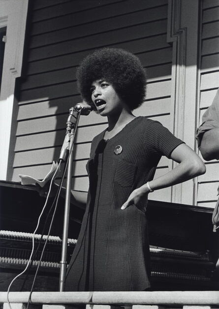 Stephen Shames, 'Angela Davis, who was a Black Panther for six months, speaks at a Free Huey Rally in Defermery Park, Oakland, California', November 12-1969