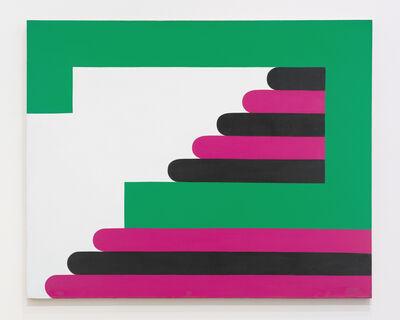 Imre Bak, 'Green-Purple-Black', 1968