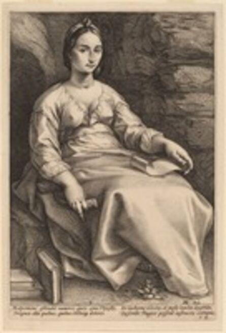 Hendrik Goltzius, 'Melpomene', probably 1592