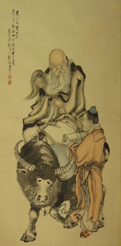 Lu Yun Xian, 'Laozi (老子) Riding a Buffalo', late 19th-early 20th century
