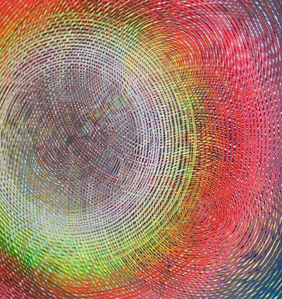 Andrew Schoultz, 'Radiating Eye in Full Spectrum', 2018