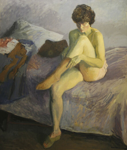 Raphael Soyer, 'Putting on Stockings', 1984