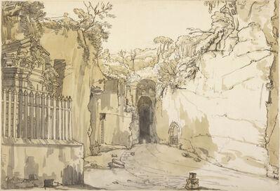 Claude-Joseph Vernet, 'The Entrance to the Grotto at Posilipo', 1750