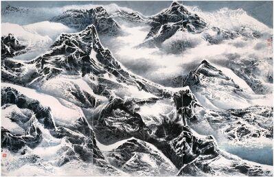 Liu Kuo-sung 刘国松, 'Snowy snowy mountains 雪滿群山', 2015