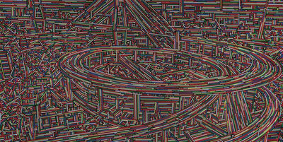 Lu Xinjian 陆新建, 'City Stream No.13', 2014