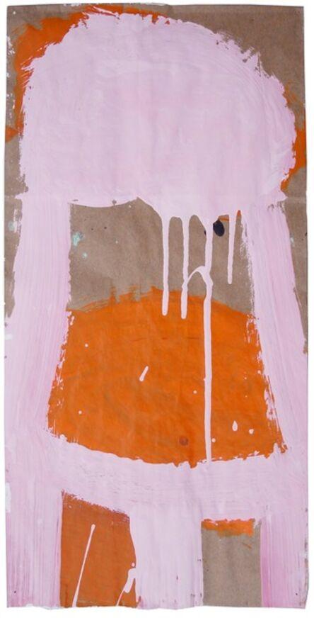 Gary Komarin, 'Small Stacked Cake #18 (Pink on Orange)'