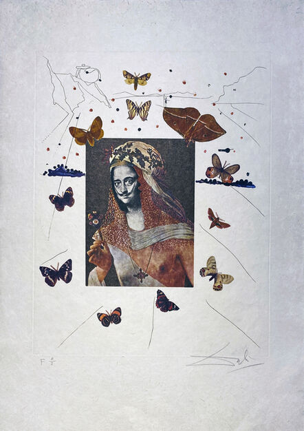 Salvador Dalí, 'Surrealist Portrait of DALI Surrounded by Butterflies (Portait Surréaliste de DALI entouré de papillons)', 1971
