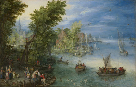Jan Brueghel the Elder, 'River Landscape', 1607