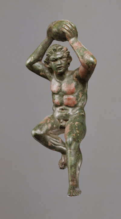 'Statuette of a Giant Hurling a Rock', 200 -175 BCE