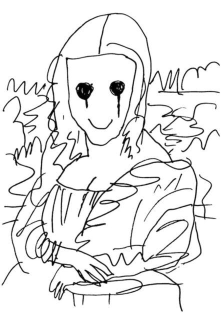 MADSAKI, 'Coffee Break Drawing of Mona Lisa_P', 2020