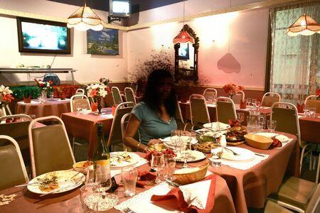 "Lieko Shiga, 'Restaurant Surtaj, from the series ""Canary""', 2007"
