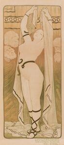 Paul Berthon, 'A Group of Three Works: Les Courtisanes, Woman with Iris, and Le Livre de Magda (poésie par Armand Sylvestre)', 1898