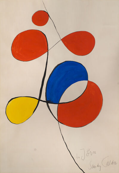 Alexander Calder, 'Untitled (Draft for the Poster for the Exhibition in the Gallery)', 1973