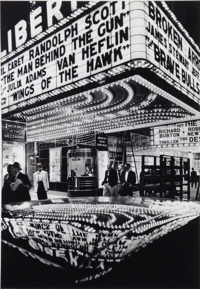 William Klein, 'Wings of the Hawk, New York', 1955