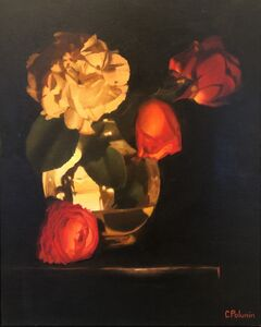 Chris Polunin, 'Flowers by Candlelight (small)', 2020