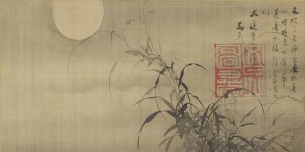 Tani Bunchō, 'Grasses and Moon. Japan, Edo period (1615–1868)', 1817