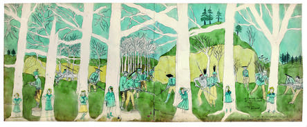 Henry Darger, 'Second battle of McAllister Run they are pursued', 1910-1970