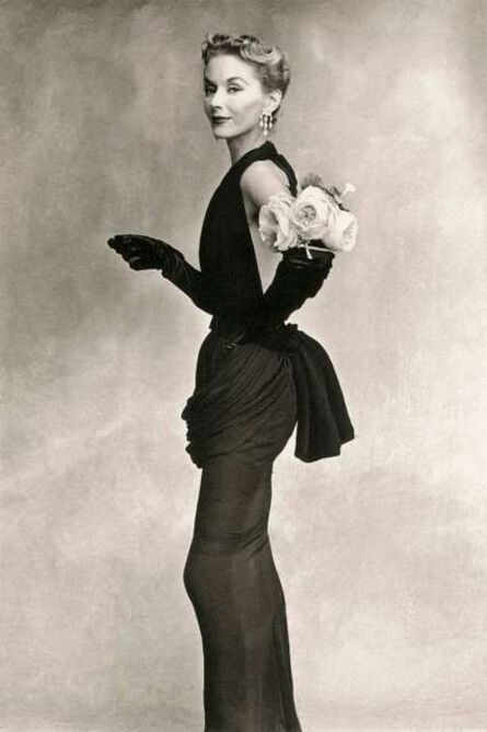 Irving Penn, 'Woman with Roses on her Arm (Lisa Fonssagrives-Penn in a Lafaurie Dress), Paris', 1950