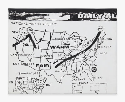Andy Warhol, 'Weather Map (Positive)', 1986