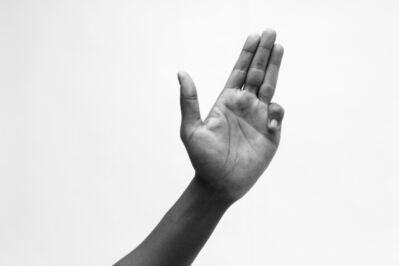 Ian Whittlesea, 'Ery Nzaramba demonstrating twelve Finger Exercises from the Egyptian Postures, Exercise 5', 2016
