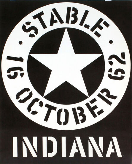 Robert Indiana, 'Stable Gallery October 1962 (Hand Signed & Inscribed)', 1962