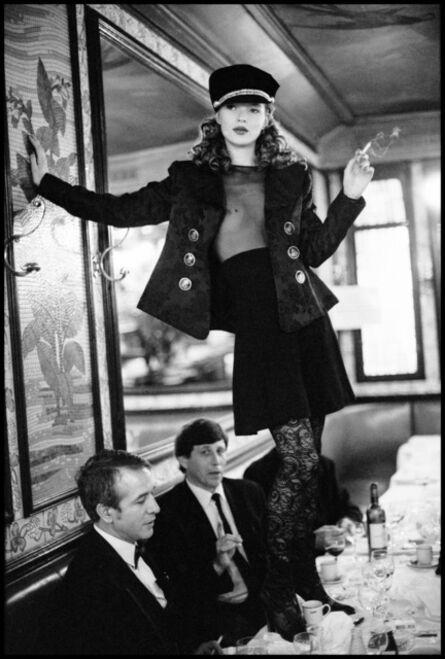 Arthur Elgort, 'Kate Moss at Café Lipp, Paris, Vogue Italia', 1993