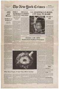Gran Fury, 'The New York Crimes ', 1989