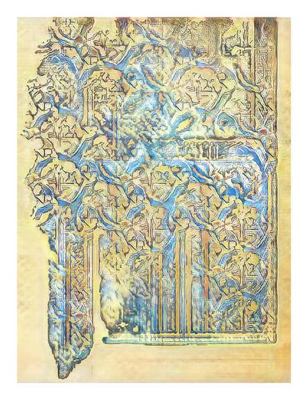 Jason Salavon, 'Narrative Frame (Illuminated Manuscripts 5)', 2019