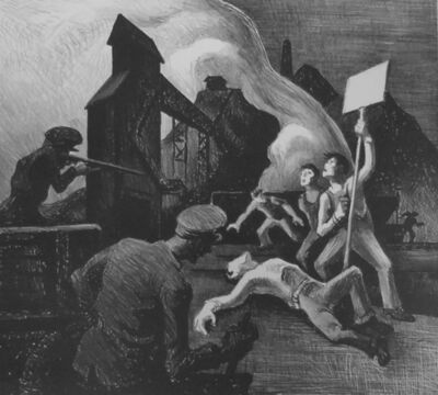 "Thomas Hart Benton, '""Strike""', 1933"