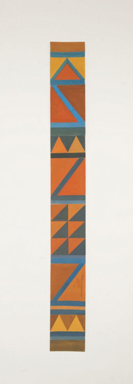 Chant Avedissian, 'B7 - Bedouin kilim pattern with 2 orange triangles at the bottom', 2016