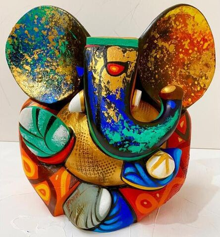 """Om Swami, 'Sumukhay, Acrylic on Fiberglass by Contemporary Indian Artist """"In Stock""""', 2021"""