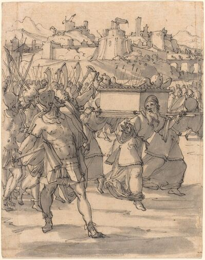 Christoph Murer, 'Joshua and the Israelites before the Walls of Jericho', ca. 1600