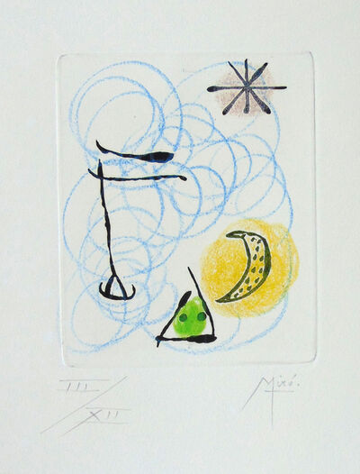 Joan Miró, 'Second Composition from The Ring of Dawn / La Bague d'Aurore', 1957