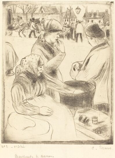 Camille Pissarro, 'Chestnut Vendors (Marchands de marrons)', 1878