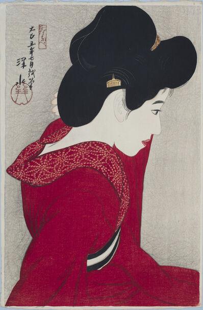 Itō Shinsui, 'Before the Mirror (Taikyo)', 1916