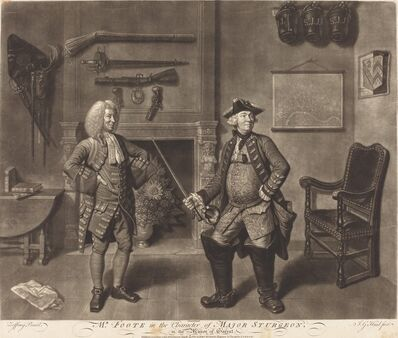 Johann Gottfried Haid after Johann Zoffany, 'Mr. Foote in the Character of Major Sturgeon, in the Mayor of Garrat', 1765