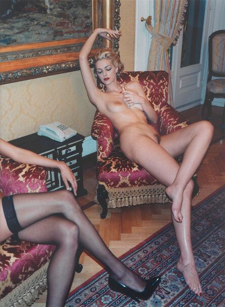 Helmut Newton, 'Simonetta and Renée, Grand Hotel Milan', 1997