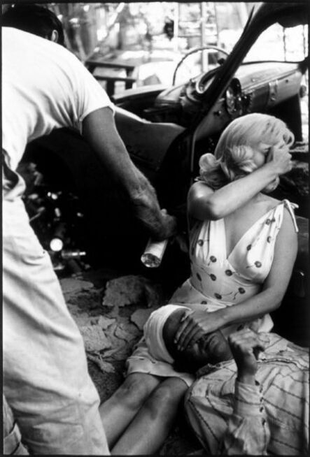 """Eve Arnold, 'Marilyn Monroe and Montgomery Clift during the filming of """"The Misfits"""" Nevada, USA', 1960"""
