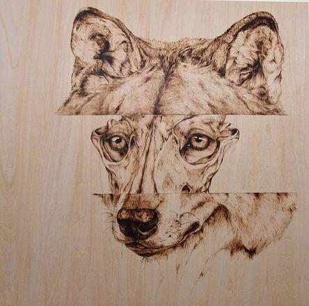 Natalie Woodson, 'Skulls & Souls: Timber Wolf', 2019