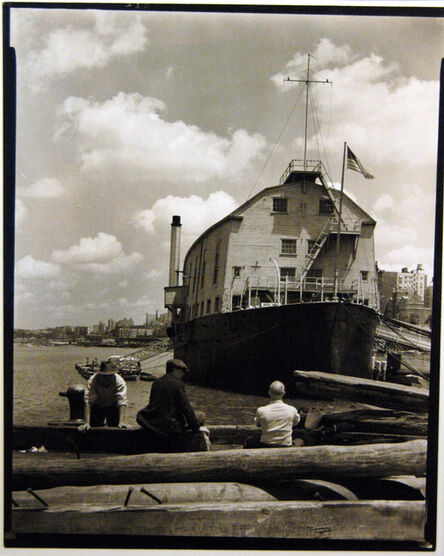 """Berenice Abbott, '""""W. P. O. Illinois"""" and Wharf', 1937"""