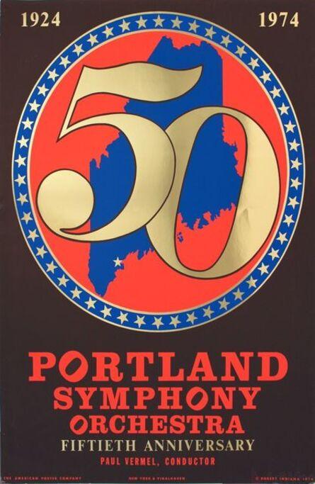 Robert Indiana, 'Portland Symphony Orchestra 50th Anniversary', 1974